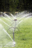 Irrigation Wheel Line Sprinkler Agricultural Equipment Royalty Free Stock Images