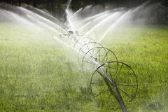 Irrigation Wheel Line Sprinkler Agricultural Equipment Royalty Free Stock Image