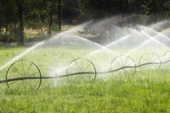 Irrigation Wheel Line Sprinkler Agricultural Equipment Stock Image