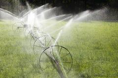 Irrigation Wheel Line Sprinkler Agricultural Equipment Stock Images