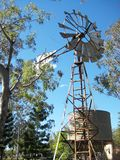 Irrigation windmill Stock Photo