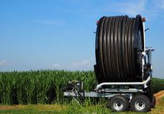 Irrigator de bobine de tuyau Photo stock