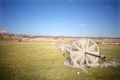 Irrigazione congelata dell'acqua Fotografia Stock