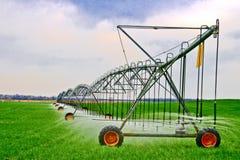 Irrigazione del campo Fotografia Stock