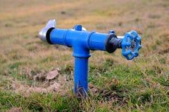 Irrigazione del prato inglese Immagini Stock