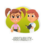 Irritability medical concept. Vector illustration. Stock Photography