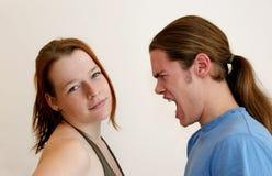 Irritado e calmo Imagem de Stock