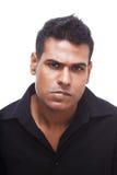 Irritado, homem de negócios do Indian da virada fotografia de stock royalty free