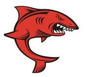 Irritado vermelho do tubarão Imagem de Stock