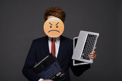 Irritated businessman Royalty Free Stock Photo