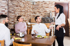 Irritated cafe visitors showing service discontent Stock Photos