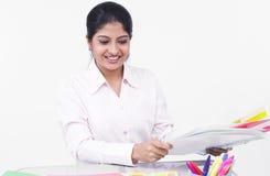 An irritated female executive Royalty Free Stock Photo