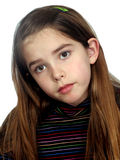 Irritated Girl. Portrait of young Girl looking irritated royalty free stock photos