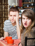 Irritated Woman with Man Royalty Free Stock Photo