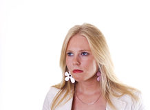 Irritated young woman Royalty Free Stock Photos