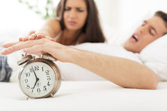 Irritating Ringing Of Alarm Clock Royalty Free Stock Images
