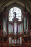 Irrite la cathédrale, fin d'organe de pipe vers le haut photos libres de droits