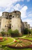 Irrite le château et le jardin image libre de droits
