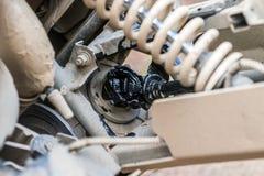 Irrompere l'automobile all'azionamento lacerato di ATV Fotografia Stock Libera da Diritti