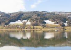 Irrsee湖,北部奥地利 图库摄影