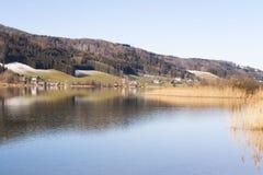 Irrsee湖,北部奥地利 库存图片