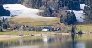 Irrsee湖,北部奥地利 免版税图库摄影