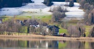 Irrsee湖,北部奥地利 免版税库存照片