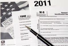 IRS 1040 от Стоковое фото RF