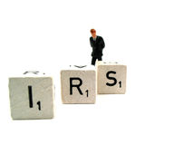 IRS. A man is worried about the IRS Stock Photo