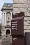 IRS Building Sign Royalty Free Stock Photos