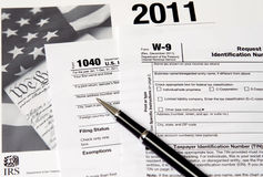 IRS 1040 da Fotografia Stock Libera da Diritti