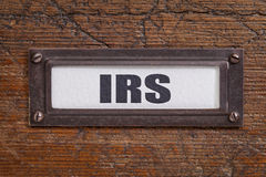 IRS - file cabinet label Royalty Free Stock Photo