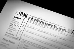 IRS Form 1040. Internal Revenue Service Form 1040 Stock Photo