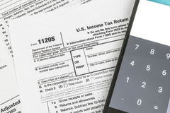 IRS Form 1120S Small Corporation Income Tax Return Stock Photos
