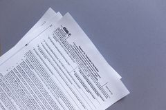 IRS Form 4506-T. Request for Tax Transcript royalty free stock photos
