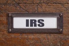 IRS - het etiket van het dossierkabinet Royalty-vrije Stock Foto