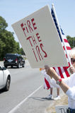 IRS Protest Stock Afbeelding