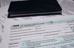 IRS Tax Form 1040 Royalty Free Stock Images