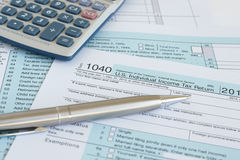 IRS 1040 Stock Images