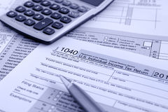 IRS 1040 Stock Photos