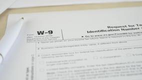 IRS W-9 Tax Form stock video