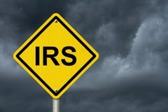 IRS znak ostrzegawczy Fotografia Royalty Free