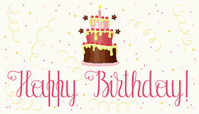 Irthday greeting card Royalty Free Stock Images