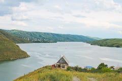 Irtyshet River, Kasakhstan arkivfoto
