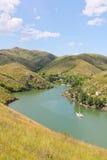 Irtyshet River, Kasakhstan Arkivfoton