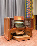 Irvine Auditorium, University of Pennsylvania. Photos of console and organ pipes Stock Images