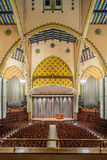 Irvine Auditorium, University of Pennsylvania. Photos of console and organ pipes Stock Image