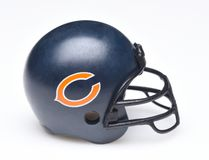 Helmet for the Chicago Bears. IRVINE, CALIFORNIA - AUGUST 30, 2018: Mini Collectable Football Helmet for the Chicago Bears of the National Football Conference royalty free stock photos