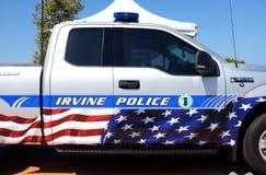 Irvine Police Vehicle in Irvine Global Village Royalty-vrije Stock Foto