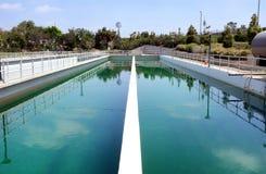 Irvine Ranch Water District Chlorine-Kontakt-Becken stockfoto